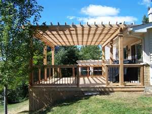 Decking And Pergola by Image Gallery Deck Arbors
