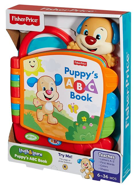 pup things that go pup to learn books fisher price laugh learn puppy s abc book best