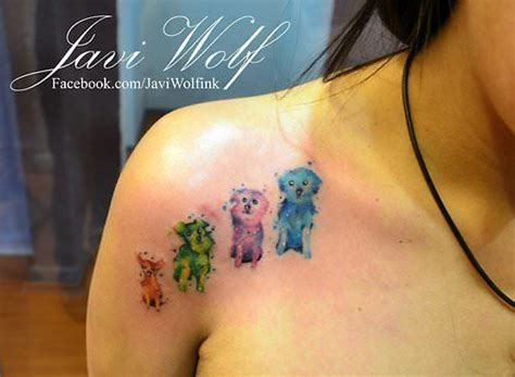 watercolor tattoo boston a lover celebrates pets with this artistic
