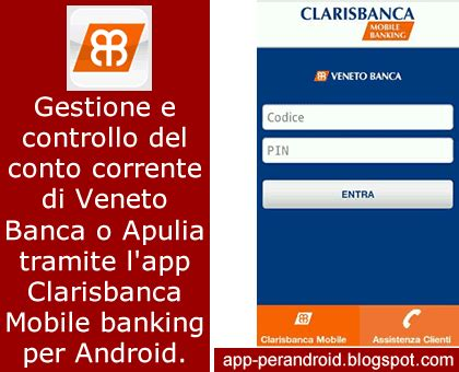 veneto clarisbanca app per android clarisbanca mobile banking di veneto