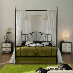 Canopy Bed Frame White Iron Canopy Bed Frame Homesfeed