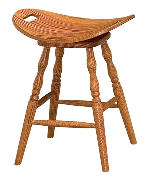 Brown Saddle Bar Stools by Saddle Bar Stool Amish Direct Furniture