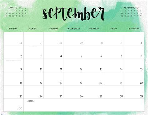 september 2018 calendar color pattern 2018 printable calendar calendar 2018