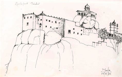 Drawing House Plans Online rock fort trichi drawing by karamchand nanta