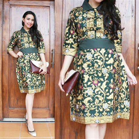 desain batik remaja model dress batik pesta www pixshark com images