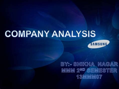 company analysis of samsung ppt