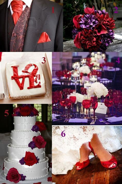 royal wedding combinations red     or Purple and Red