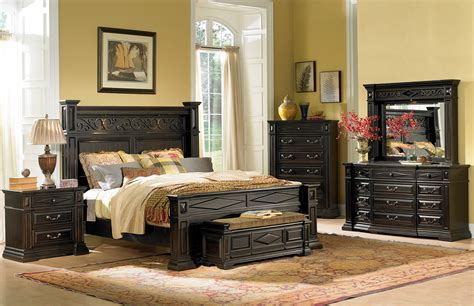 Marbella Bedroom Furniture Marbella Noir Panel Bedroom Set From Coleman Furniture