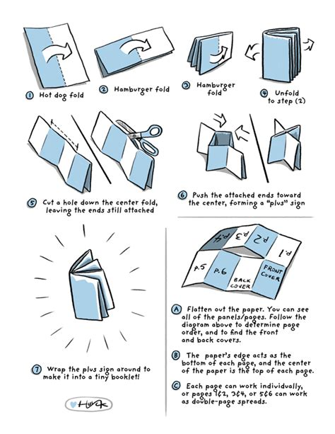 How To Make A Foldable Book Out Of Paper - not a trick comics are a treat create your own