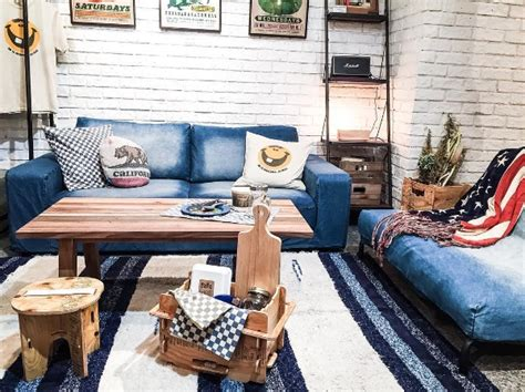 decorating with denim denim d 233 cor is a surprising new interior design trend