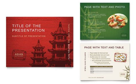 powerpoint design menu asian restaurant powerpoint presentation template design