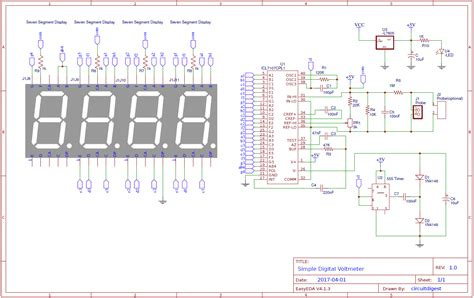 voltmeter in circuit diagram simple digital voltmeter circuit diagram using icl7107
