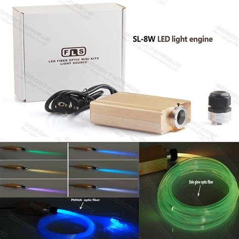 fiber optic lighting kit 8w rgb colorful fiber optic diy ceiling kit led light