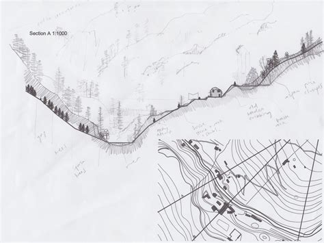 drawing a site map landscape section drawing search landscape