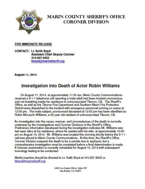 tod von robin williams das traurige polizei protokoll