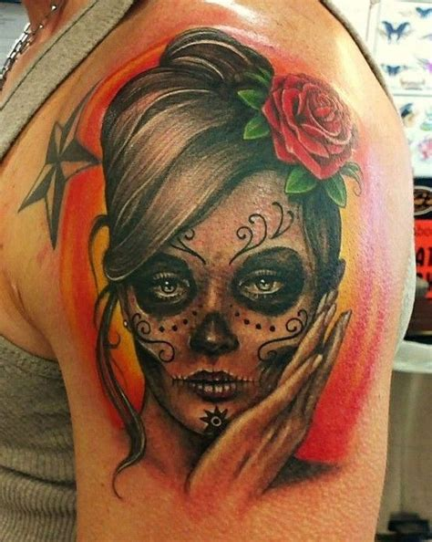 girly sugar skull tattoos sugar skulls girly tattoos conter bass skull 27