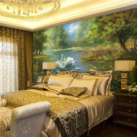beautiful forest mural wallpaper bedroom background wedding room wall art decor murals