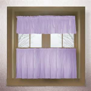 Purple Valance Curtains Light Purple Lilac Color Tier Kitchen Curtain Two Panel Set