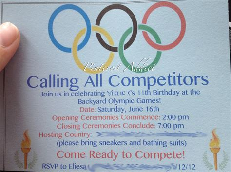 olympic invitation template olympic invitation ideas invitations ideas