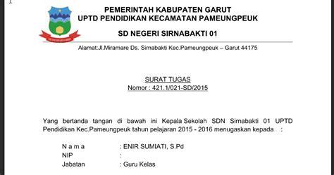 contoh surat tugas ukg dari kepala sekolah informasi