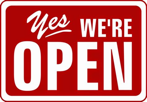 open checker porch twig yes we re open check out our schedule