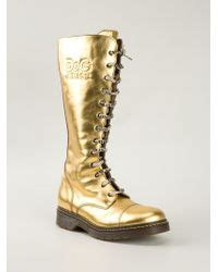 Boots Dg 24 lyst dolce gabbana d g junior boots in metallic