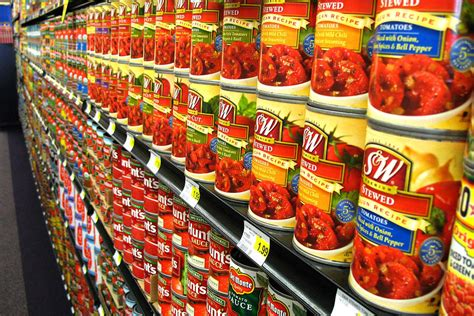 Shelf Canned Tomatoes by Canned Tomatoes Photograph By Gil Kanat