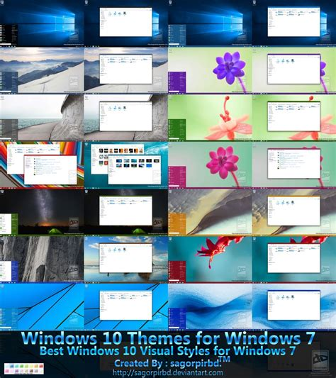 microsoft themes win 10 windows 10 themes for win 7 final by sagorpirbd on deviantart
