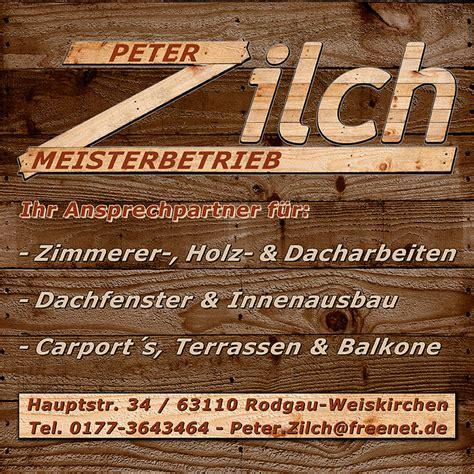 architekt rodgau zimmerer dachdecker zilch in rodgau branchenbuch