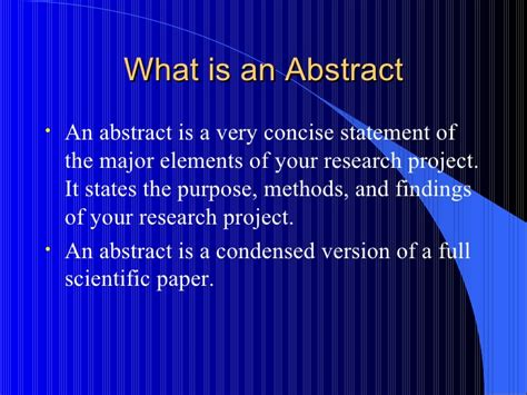 How To Do Abstract How To Write An Abstract Powerpoint