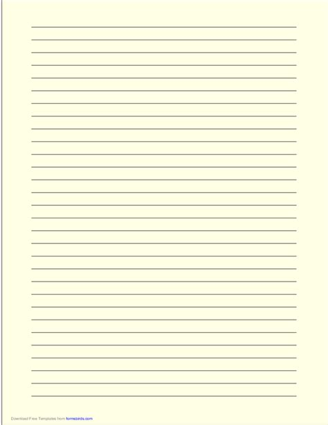 free printable dark lined paper a4 size lined paper with wide black lines light yellow