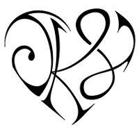 tribes lettere tatuaggio di cuore j k l legame custom