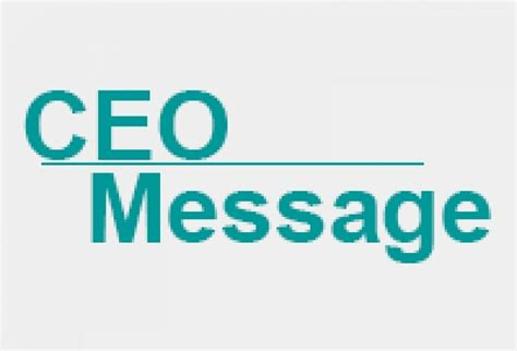 A Message From by Message From The Ceo January 2016