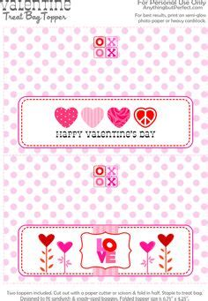 valentine bag toppers printable valentines day bag toppers free printables valentine s day treat bag topper and more