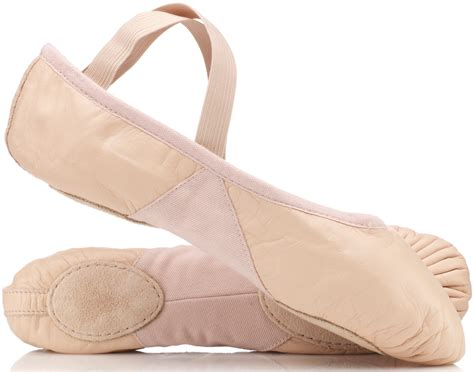 ballet shoes pink leather split sole ballet shoes by bloch by