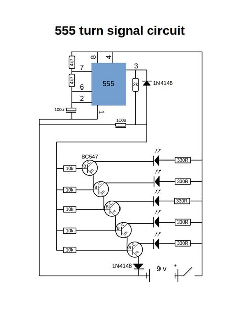 what is 555 integrated circuit turn signal using 555 timer
