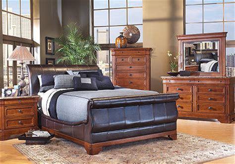 cindy crawford savannah bedroom furniture cindy crawford home savannah bi cast leather 7 pc queen