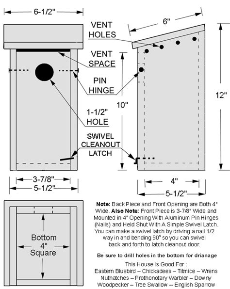 simple bird house plans pdf diy simple bluebird house plans simple wood