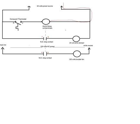 120 volt electrical relay wiring diagram get free image