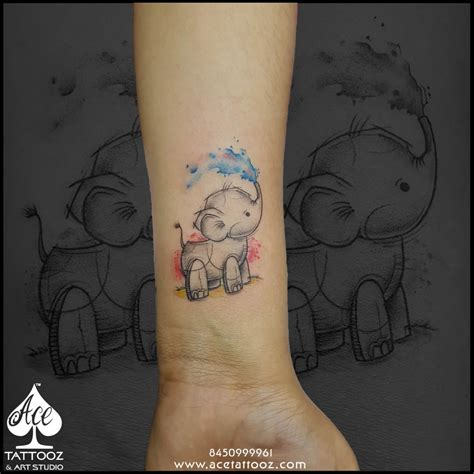 baby elephant tattoo baby elephant tattoos pictures to pin on