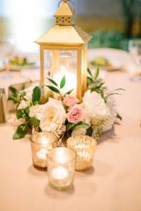 blush and gold centerpieces gold lantern centerpiece blush ivory gold centerpiece