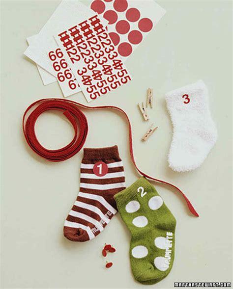 sock advent calendar baby sock advent calendar martha stewart