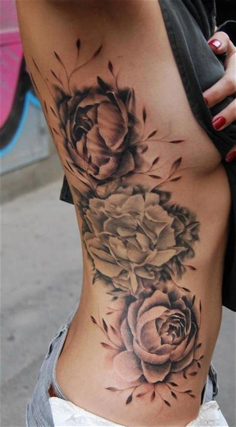 flower rib tattoos rib tattoos side and tattoos on