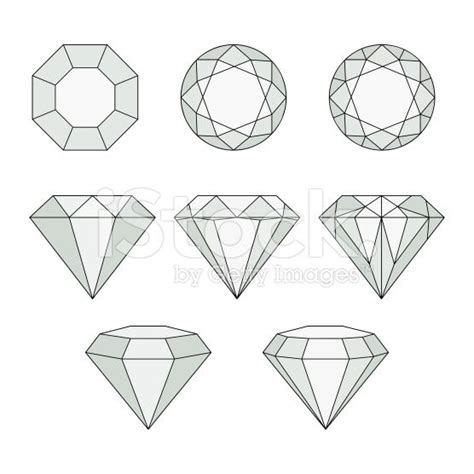 diamond pattern drawing diamond vector icons set royalty free stock vector art