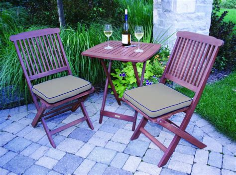 Weatherproof Patio Furniture Sets Outdoor Eucalyptus 3 Square Bistro Outdoor Furniture Set Best Patio Furniture Sets