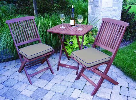 Outdoor Eucalyptus 3 Piece Square Bistro Outdoor Furniture