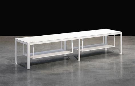 slim tv bench slim television table l 120 cm white by zeus