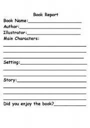 Simple Book Reports For Grade by Teaching Worksheets Book Report