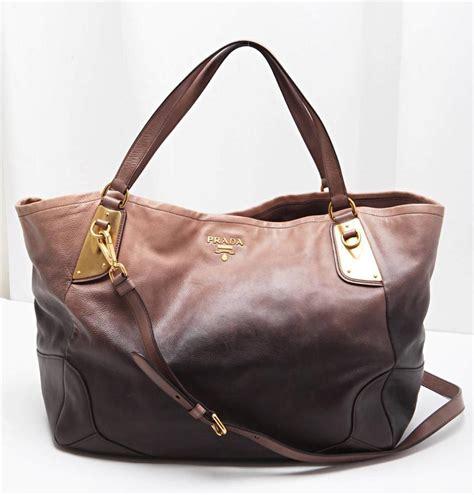 Xlarge Shopper Handbags prada brown leather glace ombre shopper xlarge tote handbag shoulder bag ebay