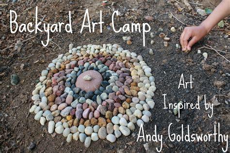 backyard art simple things notebook backyard art c andy goldsworthy